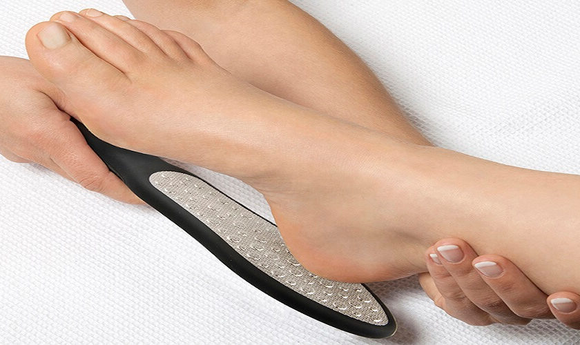 how to use a foot file properly